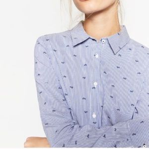 Zara Bicycle Print Button Up